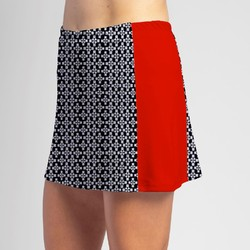 Slimming Panel Skort - Criss Cross with Red