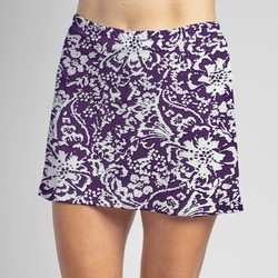Sporty Skort - Fight, Fight Plum and White