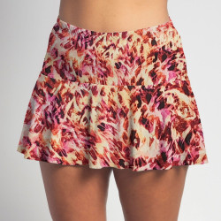 Flounce Skort - Fire TieDye all over