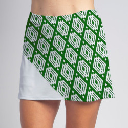 Bias Skort - Luck o' the Green with White