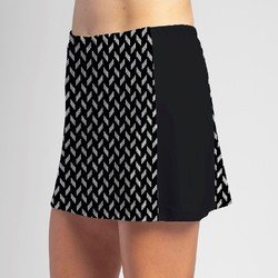 Slimming Panel Skort - BW Chiclet with Black