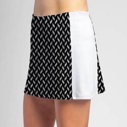 Slimming Panel Skort - BW Chiclet with White