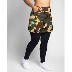 Golf/Walking Zipper Pocket Skort with attached legging - Camouflage