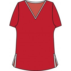 Short Sleeve Tee - Red with White Trim