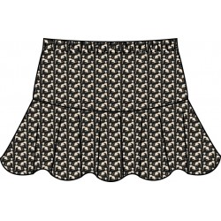 Flounce Skort - Dog Print all over
