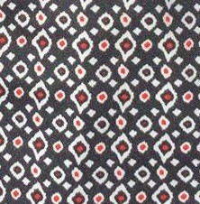 Red Black Ikat Dot